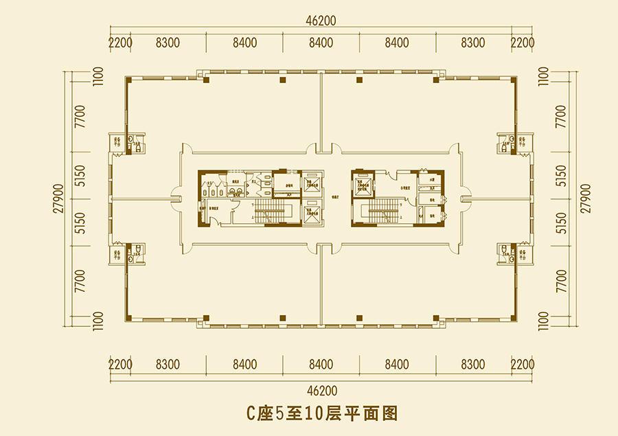 C座5-10层户型