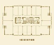 B座2至5层平面图