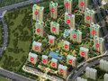 民生绿城·百合新城沙盘图
