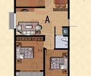 A户型 三室二厅一卫 117㎡