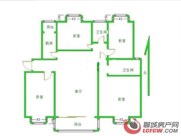 中通时代豪园二期新出房源:4室2卫、客厅朝阳、中间楼层免大税、看房方便
