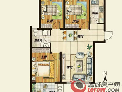 水岸花语新出3室:真实房源、精装全明户型 南北通风 有证仅此一套、看房方便