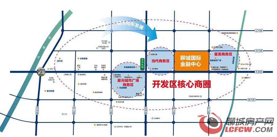 星光·聊城国际金融中心交通图