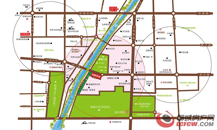 聊城京都欣城交通图