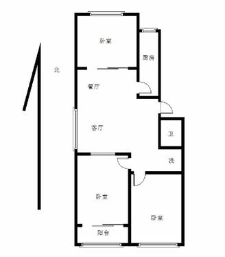 阿尔卡地亚旁水晶城 多层四楼 三室两厅 满五唯一 可按揭