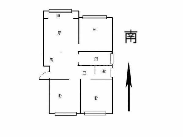 水岸花语 电梯洋房 三居室 新房未住 准婚房 多层三层