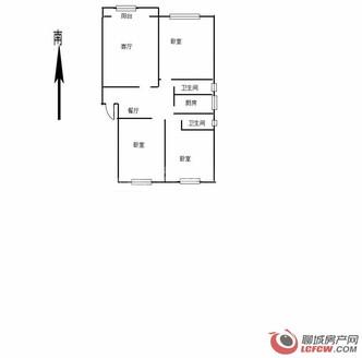 东昌湖边道局家属院2室1厅1卫60平米72万住宅