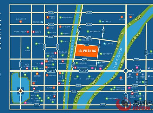 滨湖新城交通图