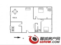 出售裕昌国际2室2厅1卫95.68平米110万住宅