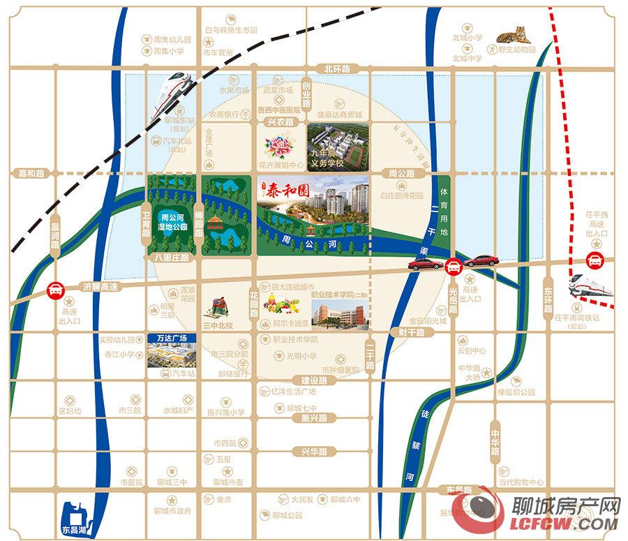 隆兴·泰和园交通图