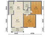 二中附近金柱大学城经典两室采光好 周边商圈成熟带车位和地下室