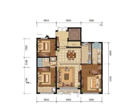 辛屯社区 2室2厅1卫 精装修,家具家电齐全,急租,振华周边